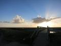SPO / Dorf / Suedstrand Sonnenuntergang Bruecke